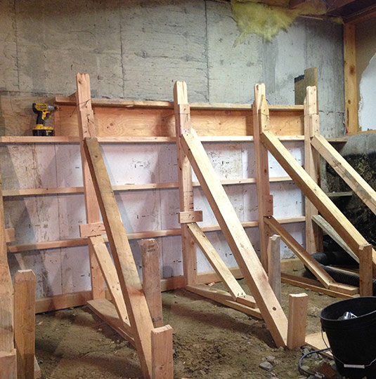 Basement Underpinning Benching