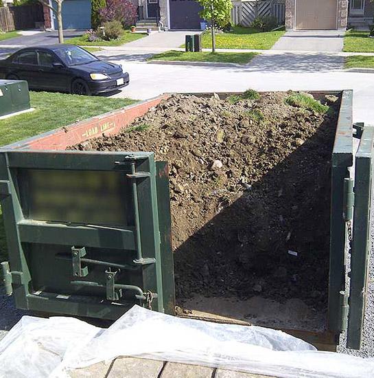 Basemnet soil bin