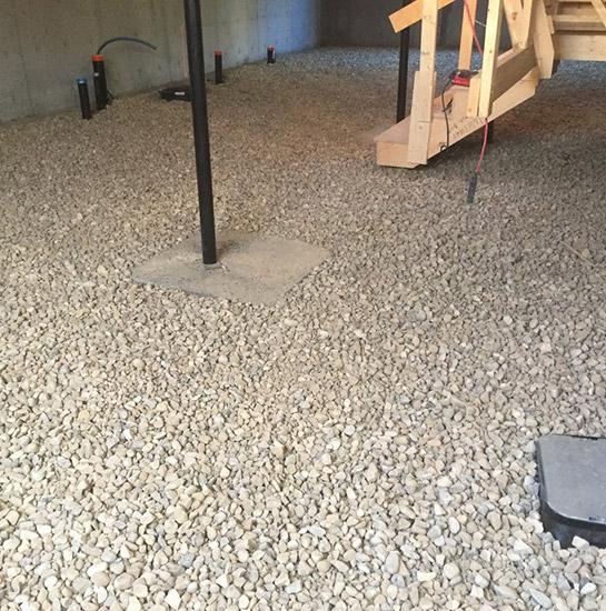 basement gravel backfill
