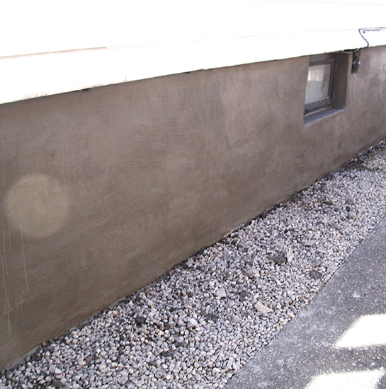 Basement Waterproofing Done with gravel outside