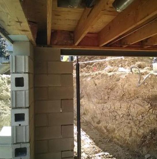 Excavate basement crawl space