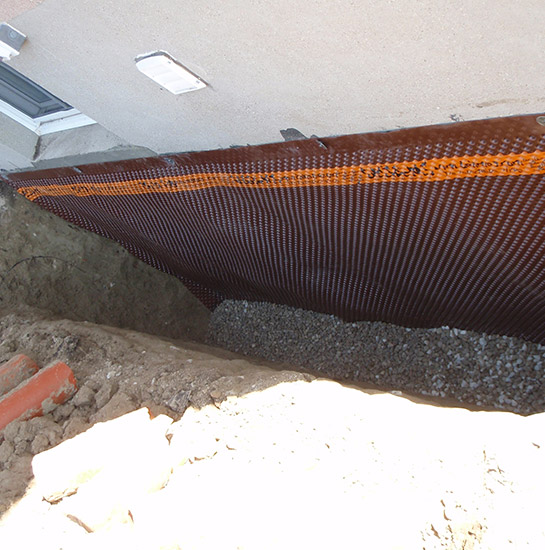Outside Waterproofing With Gravel Applied