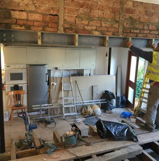 Structural Steel Beam and Post Installation in Toronto