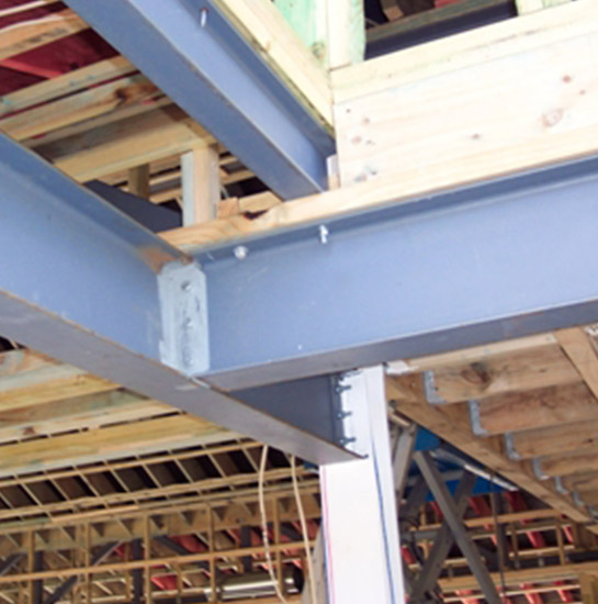 Structural Steel Beam and Post Installation in Basement Underpinning
